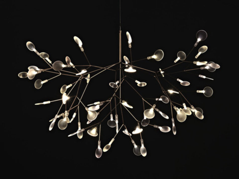 Nieuwe lampen in de spotlights for Lustre suspendu design